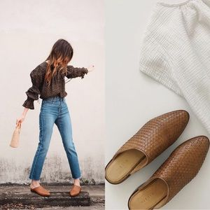 Nisolo   Ama Woven Leather Mule 7.5 Brown